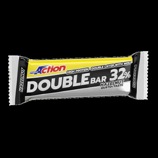 Double bar, beljakovinska ploščica, 60 g, okus lešnik