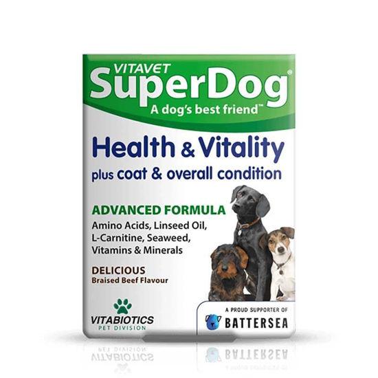 VitaVet SuperDog Health and Vitality, 30 žvečljivih tablet