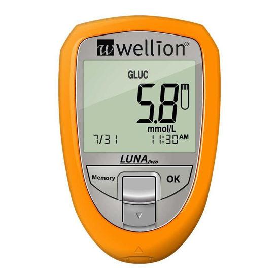 Wellion Luna Trio  set za merjenje glukoze, holesterola in sečne kisline