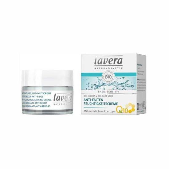 Lavera basis Sensitive Anti-aging Q10 vlažilna krema, 50 mL