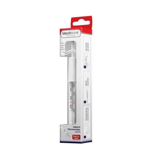 Mediblink Galijev termometer - lažje zbijanje, 1 termometer
