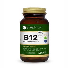 Slika VONpharma B12 vitamin metilkobalamin, 500 podjezičnih tablet