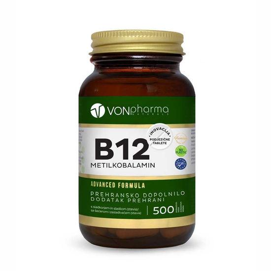 VONpharma B12 vitamin metilkobalamin, 500 podjezičnih tablet