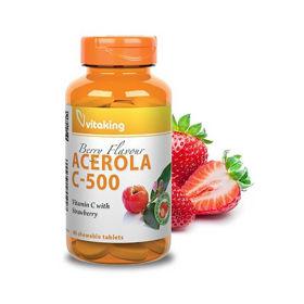 Slika VitaKing Acerola C-500 jagoda, 40 žvečljivih tablet