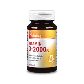 Slika VitaKing vitamin D3 2000 IU jagoda, 210 žvečljivih tablet