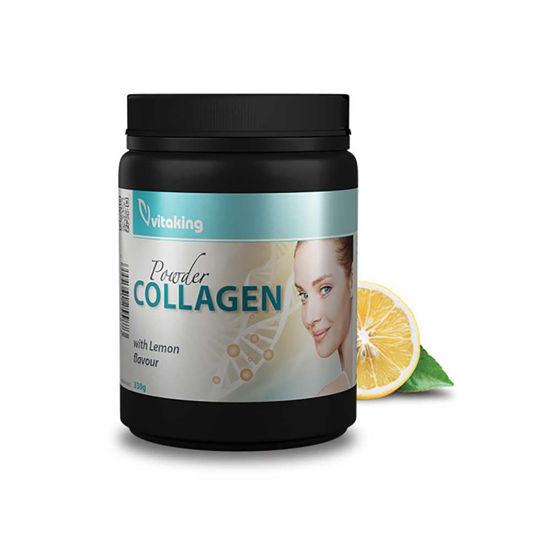 VitaKing kolagen v prahu - okus jagoda ali limona, 330 g