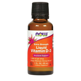 Slika Now D3 vitamin ekstra močen 25 µg/1000 IE - tekočina, 30 mL