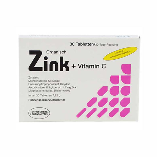 Organski CINK + vitamin C, 30 tablet