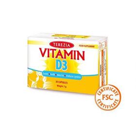 Slika Vitamin D3 - 1000 IU, 30 kapsul