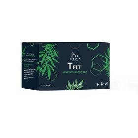Slika T FIT črni čaj s konopljo, 25 filter vrečk