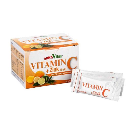 Amos Vital vitamin C + Cink direkt, 30 vrečk