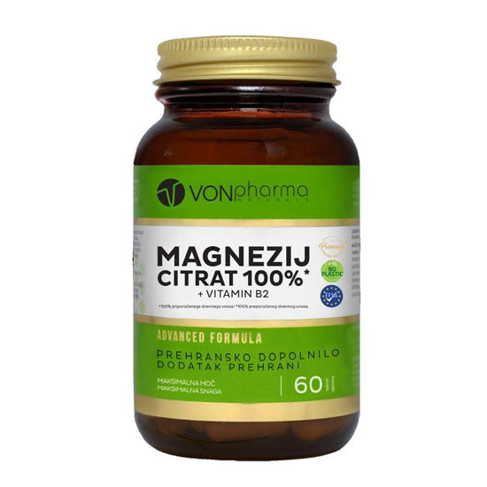 VONpharma Magnezij citrat 100 % in vitamin B2, 60 tablet