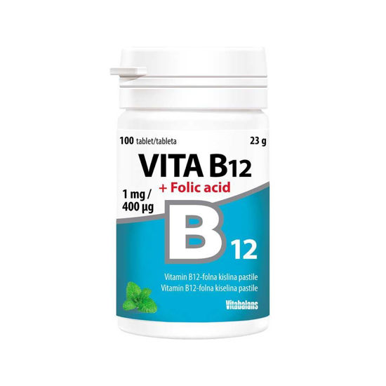 Vita B12 + folna kislina, 100 tablet