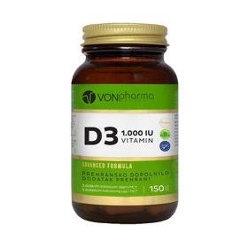 Slika VONpharma Vitamin D3 1.000 I.E., 150 kapsul
