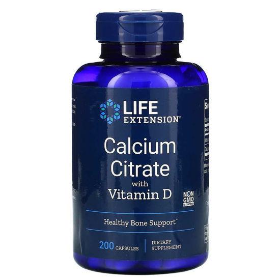LifeExtension kalcijev citrat in D vitamin, 200 kapsul