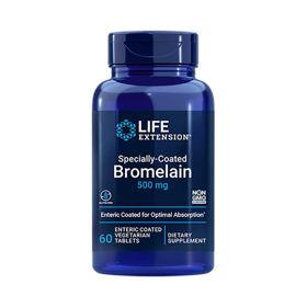 Slika LifeExtension Bromelain 500 mg z enterično prevleko, 60 obloženih tablet