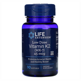 Slika LifeExtension K2 (MK-7) vitamin, 90 mehkih kapsul