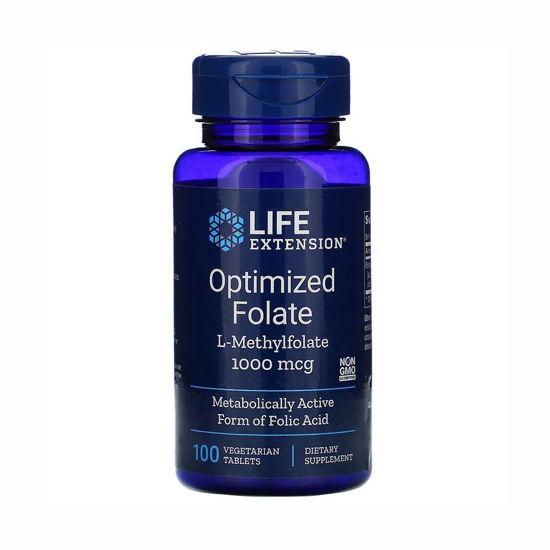 LifeExtension Optimiziran folat L-MetilFolat, 100 vegetarijanskih tablet