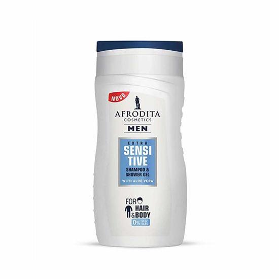 Afrodita Men Extra Sensitive gel za šamponiranje in prhanje, 250 mL
