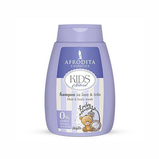 Afrodita Kids Natural šampon za lase & telo, 200 mL