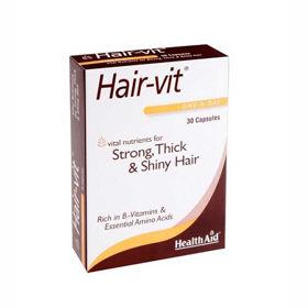Slika HealthAid Hair vit lepi lasje, 30 kapsul