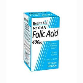 Slika HealthAid folna kislina 400 µg, 90 tablet