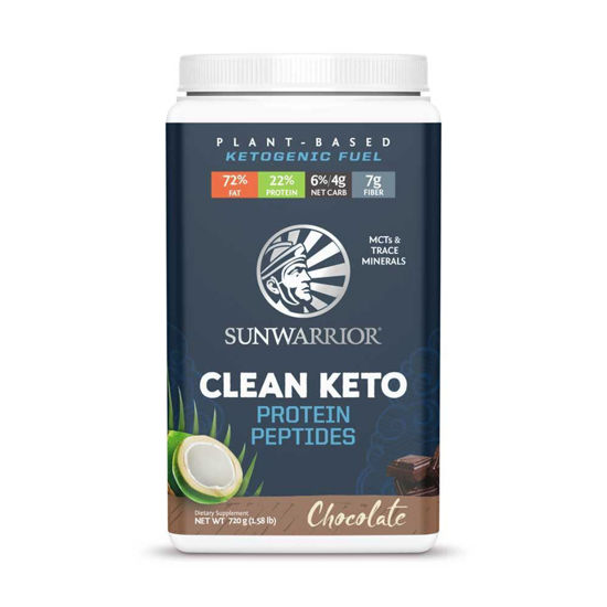 SunWarrior Clean Keto čokolada veganski proteini, 12 x 48 g ali 720 g