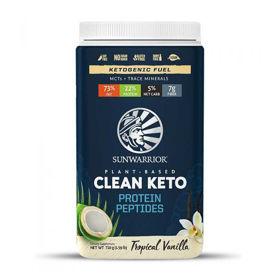 Slika SunWarrior Clean Keto vanilija veganski proteini, 12 x 48 g ali 720 g