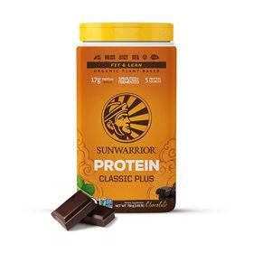 Slika SunWarrior Classic Plus čokolada rastlinski proteini, 12 x 25 g, 375 ali 700 g