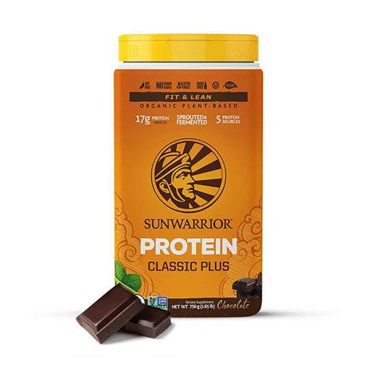 SunWarrior Classic Plus čokolada rastlinski proteini, 12 x 25 g, 375 ali 700 g
