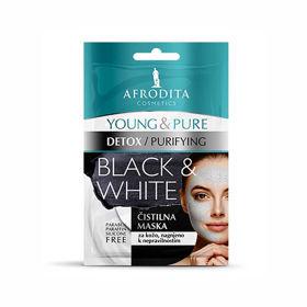 Slika Afrodita Young & Pure Black & White čistilna maska, 2 x 5 mL