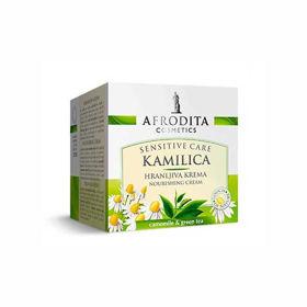 Slika Afrodita Kamilica Sensitive hranljiva krema, 50 mL