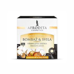 Slika Afrodita Cotton & Silk 24h hranljiva krema, 50 mL