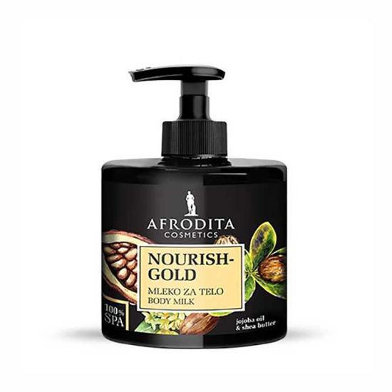 Afrodita 100% Spa Nourish Gold mleko za telo, 250 mL