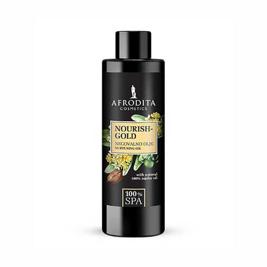 Afrodita 100% Spa Nourish Gold negovalno olje, 150 mL