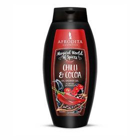 Slika Afrodita Chilli & Cocoa oljni gel za prhanje, 250 mL