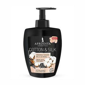 Slika Afrodita Cotton & Silk kremno tekoče milo, 300 mL