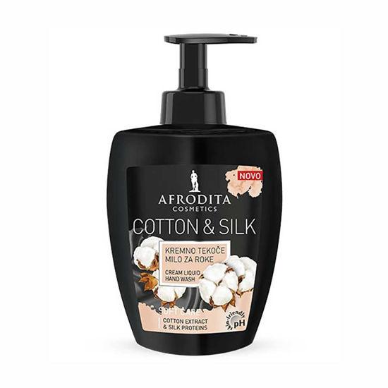 Afrodita Cotton & Silk kremno tekoče milo, 300 mL