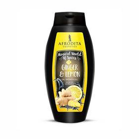 Slika Afrodita Ginger & Lemon oljni gel za prhanje, 250 mL