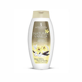 Slika Afrodita Natural Vanilla negovalno mleko za telo, 250 mL