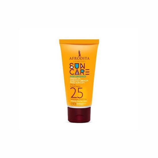 Afrodita Sun Care Age Defence krema za zaščito obraza pred soncem ZF 25, 50 mL