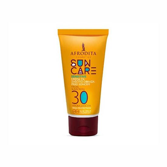 Afrodita Sun Care Sensitive krema za zaščito obraza pred soncem ZF 30, 50 mL