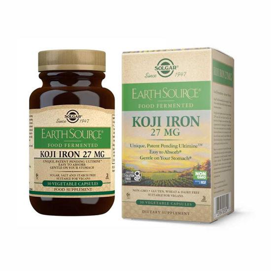 Solgar Koji Iron 27 mg železo, 30 kapsul