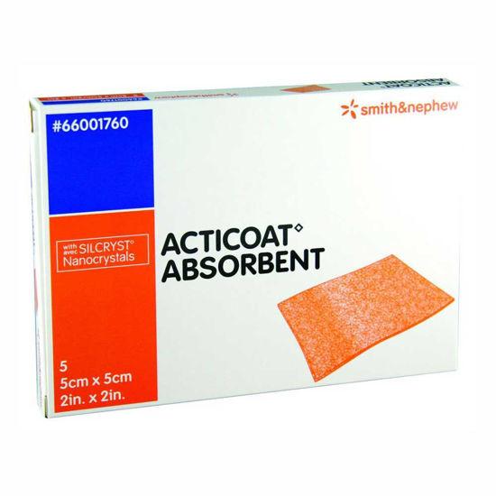 Acticoat Absorbent alginatna sterilna obloga z nanokristalnim srebrom, 10x12,5 cm, 5 oblog