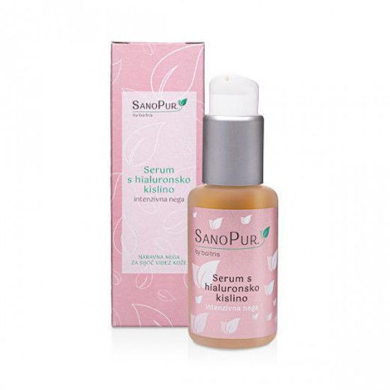 SanoPur serum s hialuronsko kislino, 50 mL