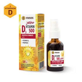 Slika Medex vitamin D3 Junior 500 IU pršilo, 30 mL