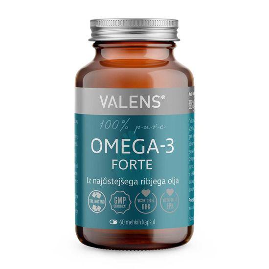 Valens Omega-3 Forte, 60 mehkih kapsul