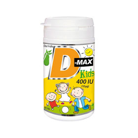 Slika D-MAX KIDS 400 I.E. D3 vitamin - okus hruške, 90 tablet