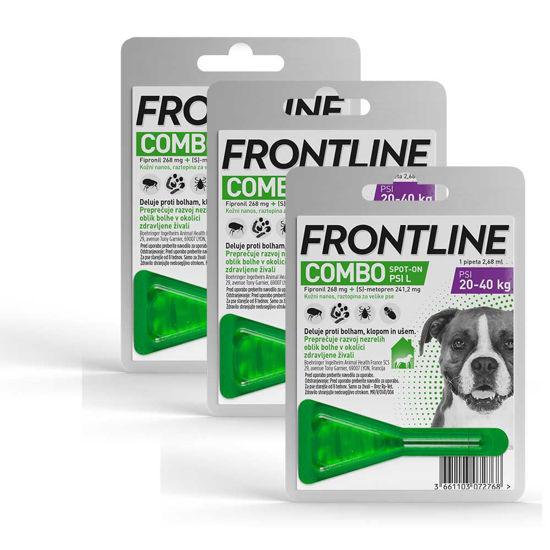 Frontline Combo dog raztopina proti bolham za pse (20 - 40 kg), 3x2,68 mL
