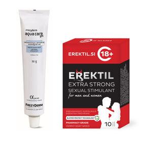 Slika Erektil Extra Strong kapsule, 10 kapsul + Frezyderm Aqua Care vaginalni gel, 50 g